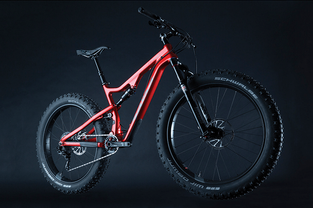 Salsa Cycles already has a carbon version of its full suspension fat bike in the works