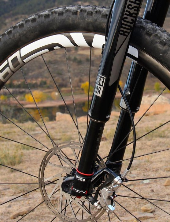 We also tested the M60 Forty rims in a 29in version with the RockShox RS-1 suspension fork