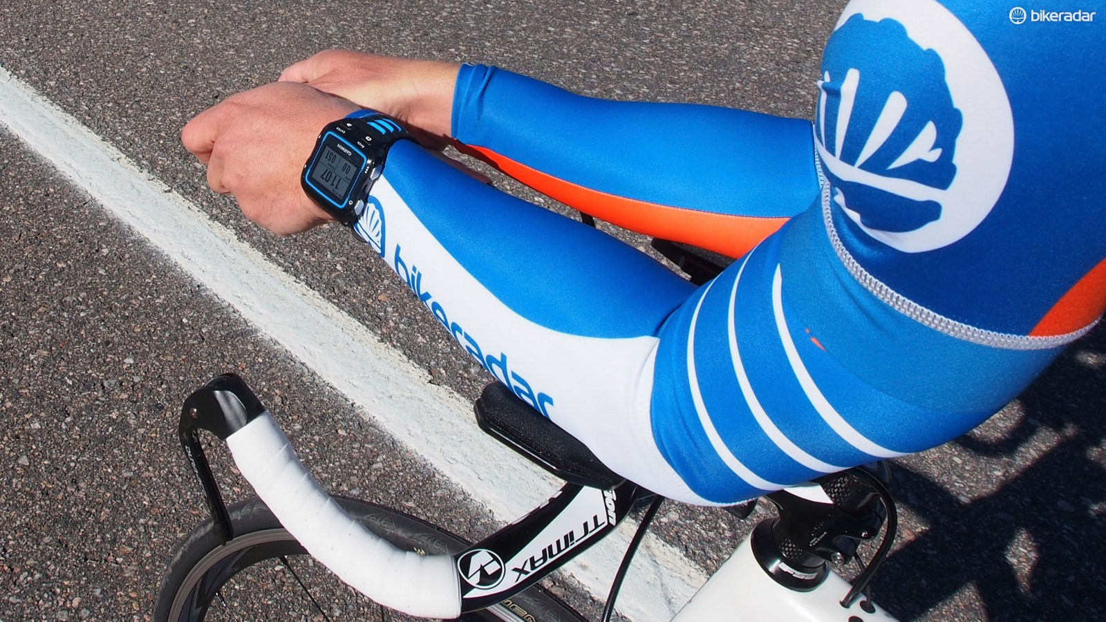 The Garmin 920XT captures and displays all the standard cycling metrics, including that from ANT+ peripherals such as power meters and heart rate monitors, but a watch just isn't as easy to view as a bike computer