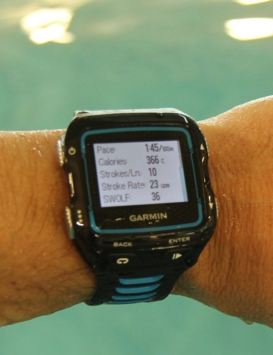 As with the rest of the modes, Indoor Swim delivers a wealth of live and post data –and all you have to do is press the 'play' button
