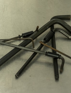 The L-shaped hex wrench is the most common and works perfectly. However faster and more comfortable options exist