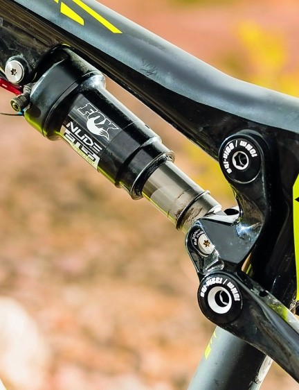 Fox developed Nude shock offers a switchable 120 or 85mm of travel, but can be stilted on big hits
