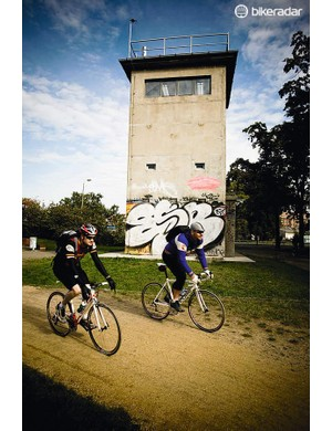 The Berlin Wall Trail is 160km long, but there's an abundance of  S and U-bahn stations within easy reach if you need a break from riding
