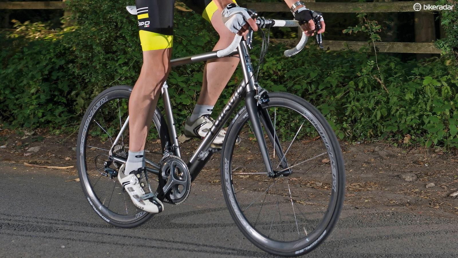 The Pearson Just Killing Time is a fast titanium sportive bike