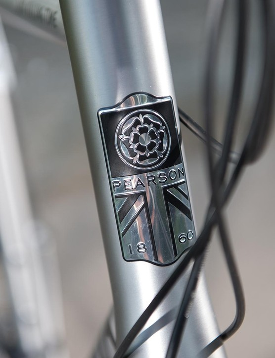 The Pearson badge on the head tube oozes class