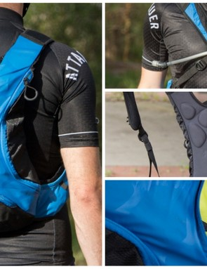 The Shimano Unzen 6 hydration pack offers stretchy storage in a lightweight design