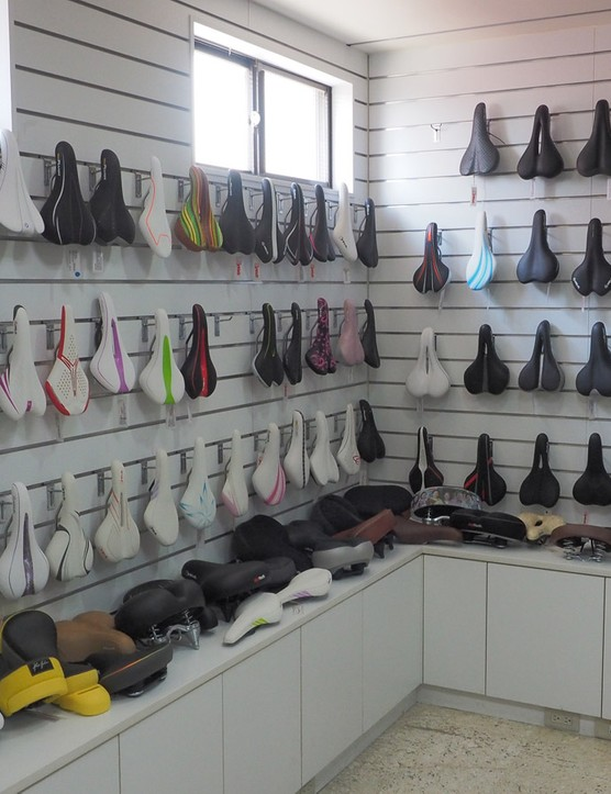 Velo manufactures a truly staggering range of saddles. This is but a tiny, tiny selection of all the different off-the-shelf options available