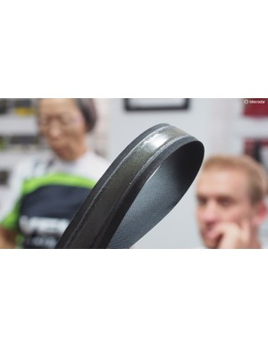 Yu is rightfully proud of Velo's patent on gel-backed handlebar tape. If your favourite gel tape looks anything like this, Yu's company likely made it