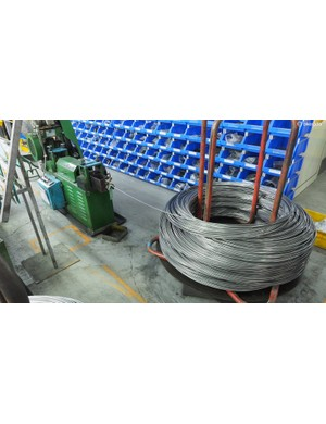 Saddle rails first start out as huge coils of metal