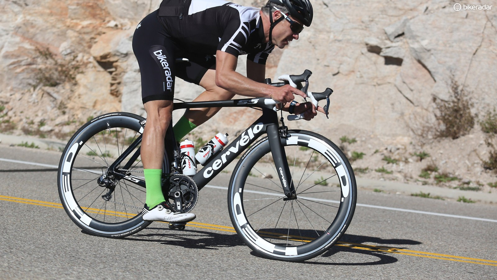 The new Cervelo S5 has markedly improved front-end handling and a lower stack than the previous iteration