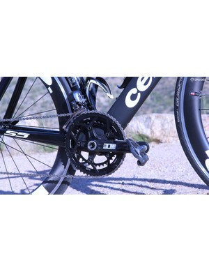 Rotor has long been a parner for Cervelo. The new bikes get the new 3D+ cranks with 52/36t rings