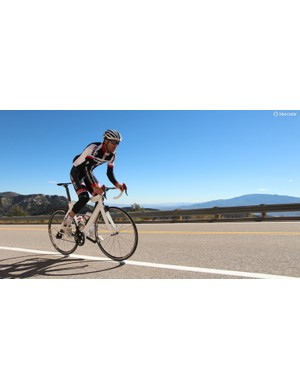 Graham Shrive, lead engineer on the new S5, riding in Arizona
