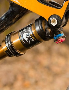 The proprietary shock delivers excellent baseline set-up – just over-pressurise it, sit on the bike and release the Auto Sag valve