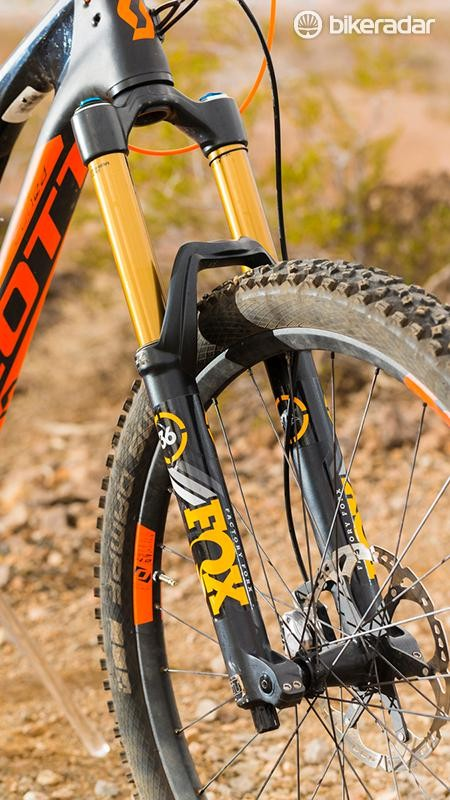 The new Fox 36 adds a serious amount of stiff steering, big-hit happy control…