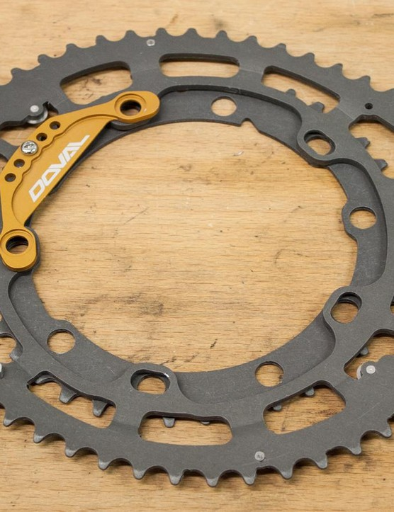 The Doval chainrings are made from 6061 aluminium