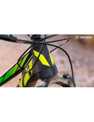 The lifetime-warrantied 'alloy' frame is handmade in Canada, with alignment checked multiple times to ensure ultra sensitive suspension movement and accurate tracking