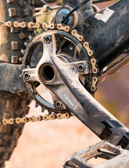 One of the overwhelming impressions we got from our desert riding was how positive, punchy and wonderfully simple SRAM's 1x11 transmissions are