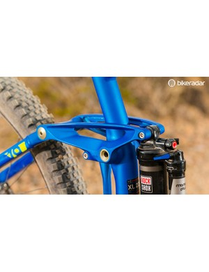 Schwalbe's Rock Razor tyre is a tough but fast trail shredder for drier weather and rear wheel drift fans