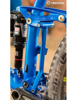 The Equilink linkage connector is designed to balance the suspension when you pedal hard, to keep the bike stable but still traction rich