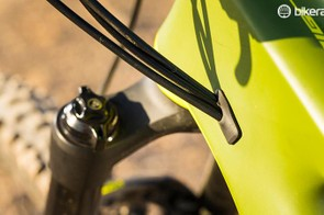 The internal cable routing has a single port on each side, keeping lines clean