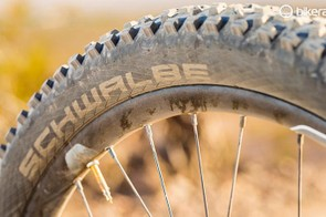 The grip of a Schwalbe Magic Mary provides a confidence boost