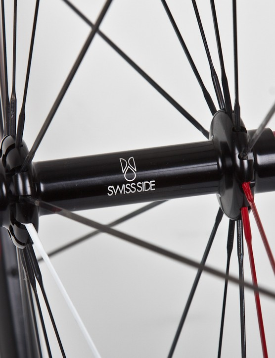 Swiss Side's proprietary hubs are quite simple but roll smoothly