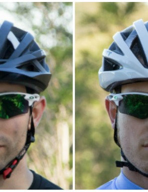 The Scott Wit helmet comes in either a road (Wit-R) or mountain (Wit) version with a visor