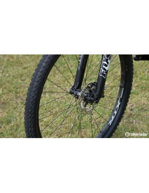 Our bike came kitted with brand-new Shimano XTR M9000 wheels