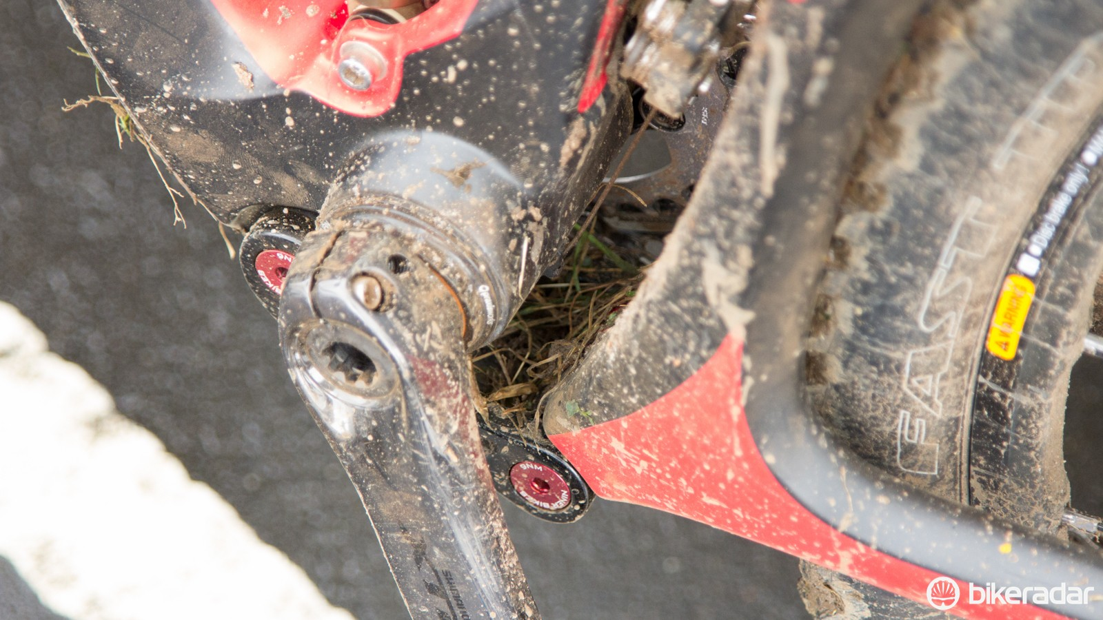 Light rain, a little mud and some grass riding created a mess by the end
