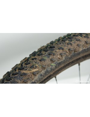 The Specialized Fast Trak Control tyres packed up a bit in the clay-like mud, but still gripped surprisingly well