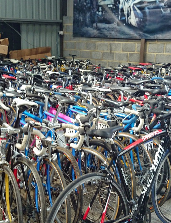 As you can see, there are a lot of bikes from the film still waiting to be workshopped