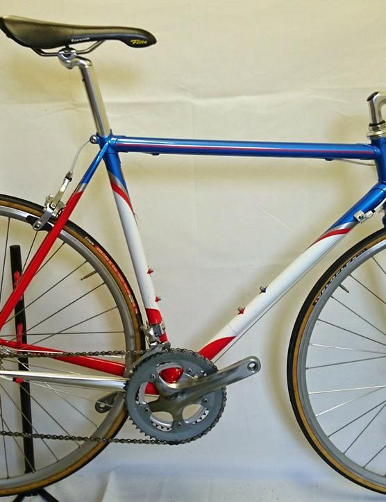 A Condor Classico, painted up to emulate Motorola's Eddy Merckx bikes (minus decals)