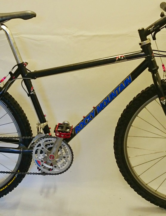 A Rocky Mountain MTB, apparently from Armstrong's early days