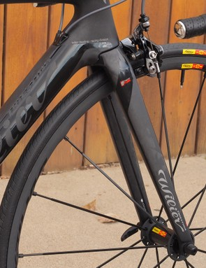 The slim fork blades and similarly svelte seatstays suggest a smooth ride
