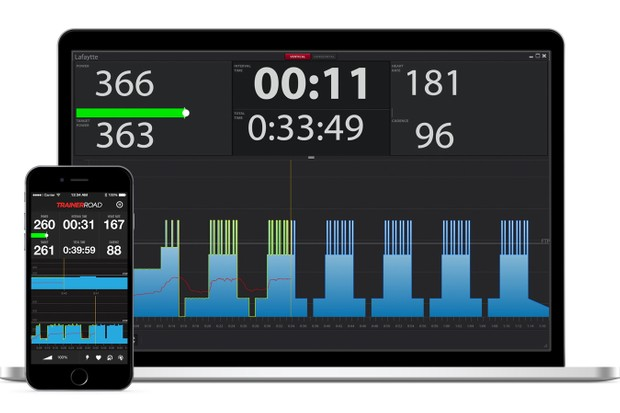 TrainerRoad is launching an app version of its software, which will work via an iPhone's native Bluetooth or via ANT+ using a dongle