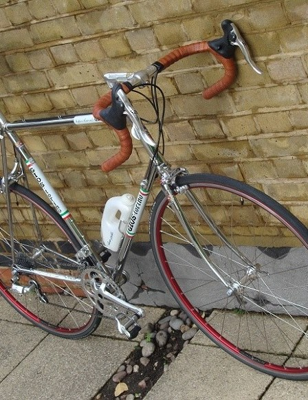 Now this is beauty - Gabi Enahoro's gorgeous chrome 1980 Gros Torino with Campag Super Record