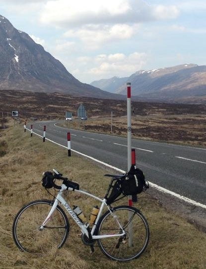This is Shaun Claridge's Specialized Secteur on the route to John O' Groats