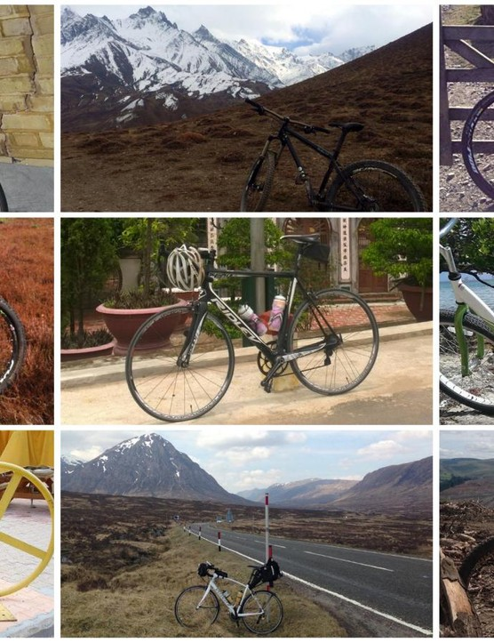 Our readers' bikes in stunning locations