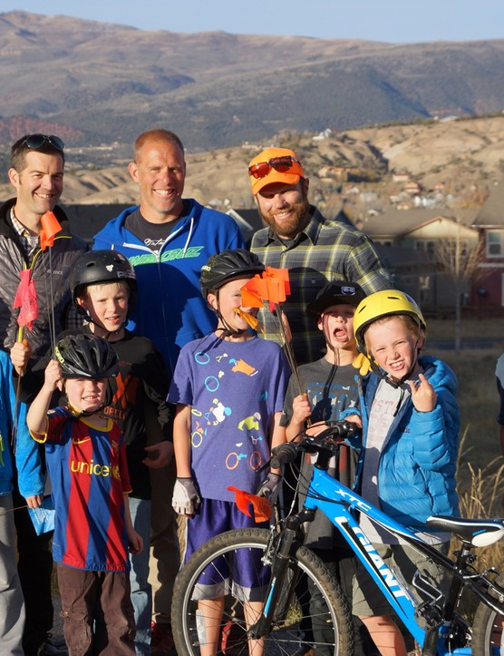 Parents (left to right) Adam Palmer, Eagle County planner; Matt Thompson, co-owner of Momentum Trail Concepts; and Breck Epic promoter Mike McCormack spearheaded the Singletrack Sidewalk proposal