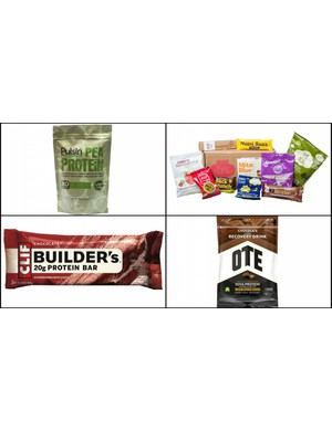 A selection of vegan sports and energy products