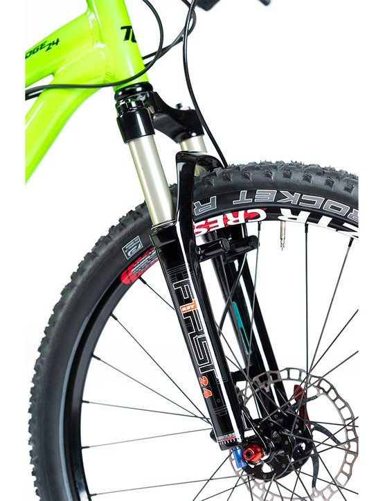 The 60mm travel RST First offers lockout and preload adjustments just like a fully-grown fork