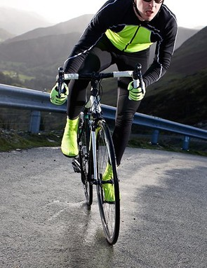 Northwave's Sonic jersey is warm but won't keep out wind or rain, but the Evolution tights are made of stern stuff
