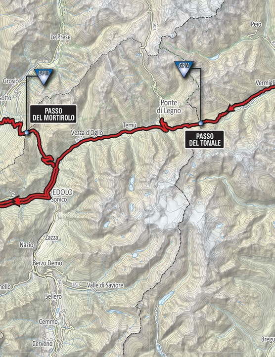 This is the full route including the circular lap at the end