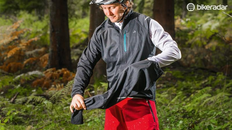The Dhb Switch softshell jacket converts into a gilet simply by removed the zip-off arms
