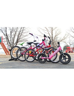 Kids' bikes range widely in wheel size. Getting the right one matters