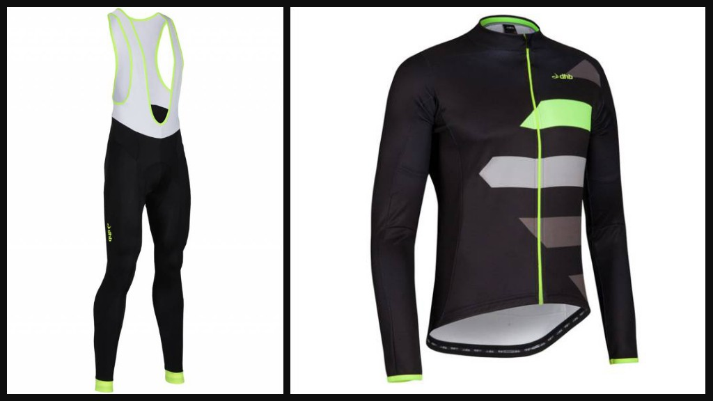 DHB Blok Dasher jersey and Blok Fluro bib tights
