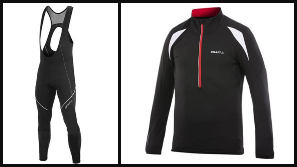 Craft Performance Bike Thermal jersey and Performance Bike Storm bib tights