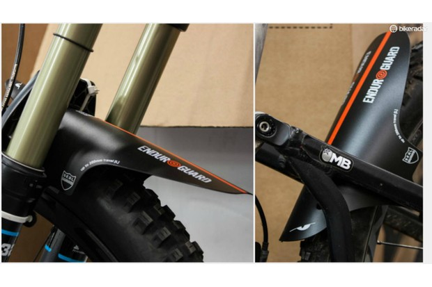 Folding guards which mount under the crown are becoming increasingly popular on mountain bikes