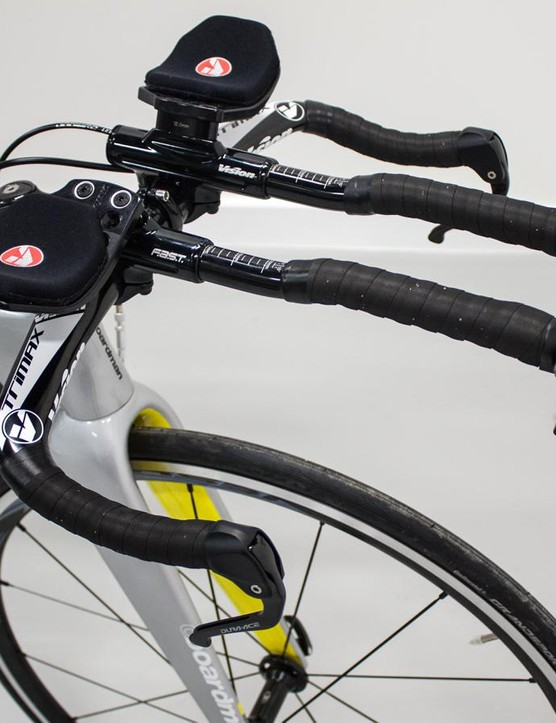 The Vision Trimax bars are adjustable and offer thick, comfy pads