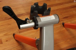 The FluidPro's Quick Connect mechanism simplifies the process of getting your bike on and off